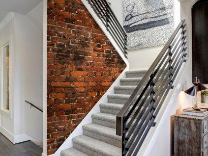 Tapeta stará cihlová zeď (Klasické tapety 49x1000 cm - samolepicí)