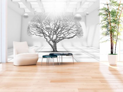 Tapeta strom budoucnosti (Rozměry (š x v) a Typ 147x105 cm - samolepící)