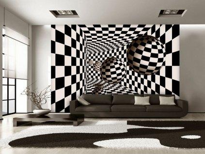 Tapeta šachovnice a geometrie (Rozměry (š x v) a Typ 147x105 cm - samolepící)