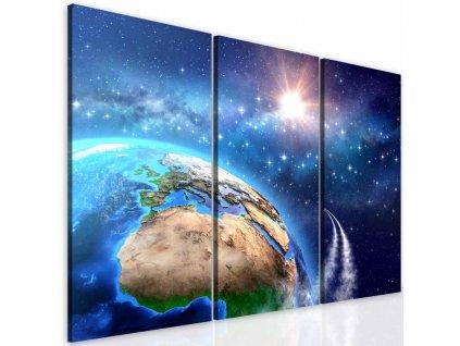 Třídílný obraz vesmírná mise (Velikost 60x50 cm)