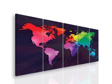 Vícedílný obraz - Světadíly (Velikost 150x60 cm)