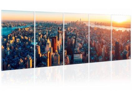 Vícedílný obraz Manhattan na dlani (Velikost (šířka x výška) 150x50 cm)