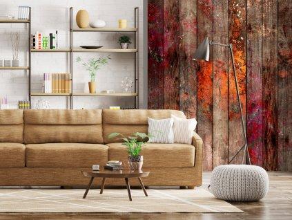 Zabarvené dřevo (Klasické tapety 49x1000 cm - samolepicí)