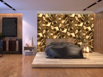 Zlatá iluze (Klasické tapety 49x1000 cm - samolepicí)