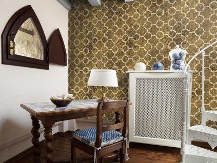 Zlatá mozaika (Klasické tapety 49x1000 cm - samolepicí)