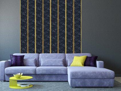 Zlaté pruhy (Klasické tapety 49x1000 cm - samolepicí)