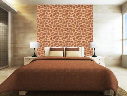Žirafí motiv (Klasické tapety 49x1000 cm - samolepicí)