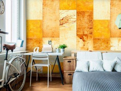 Žluto oranžový obklad (Klasické tapety 49x1000 cm - samolepicí)