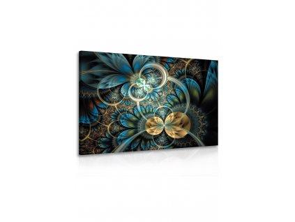 Obraz květinové ornamenty (Velikost (šířka x výška) 120x80 cm)