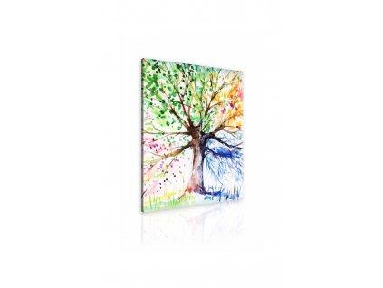 Obraz malovaný strom ročních období II (Velikost (šířka x výška) 70x90 cm)