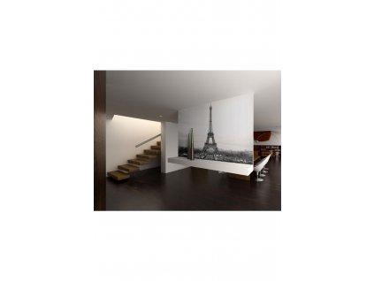 Fototapeta černobílá Paříž (Rozměry (š x v) a Typ 147x116 cm - samolepící)