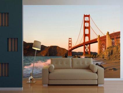 Fototapeta Golden Gate Bridge (Rozměry (š x v) a Typ 147x116 cm - samolepící)