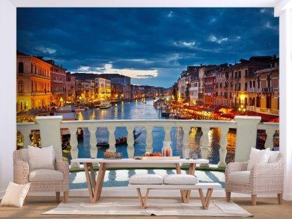 Fototapeta noční život v Benátkách (Rozměry (š x v) a Typ 147x105 cm - samolepící)