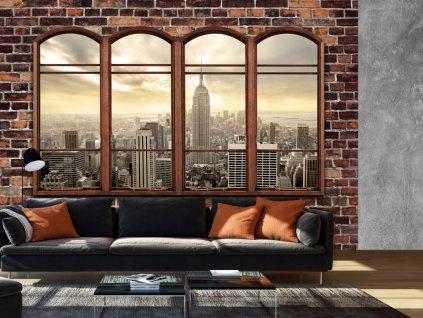 Tapeta New York za oknem (Rozměry (š x v) a Typ 147x105 cm - samolepící)