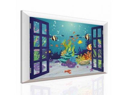 Dětský obraz podmořský svět (Velikost 90x60 cm)