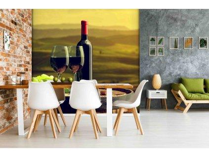 Tapeta milovnící vína interior 361436120