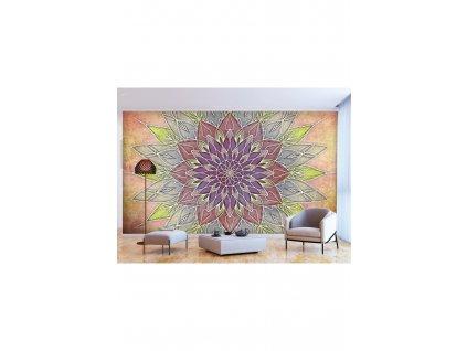 Tapeta jemná pastelová mandala