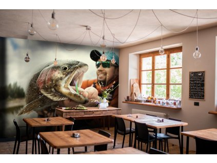Tapeta Rybář s krásným duhákem