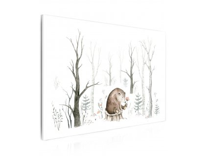 Obraz malovaný medvídek