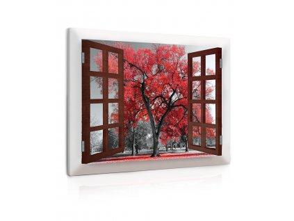 Obraz podzimní atmosféra - strom