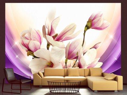 Fototapeta - Proměny magnolie (Rozměry (š x v) a Typ 147x105 cm - samolepící)