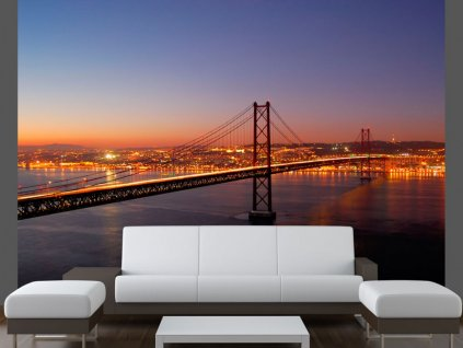 Fototapeta Bay Bridge San Francisko (Rozměry (š x v) a Typ 147x116 cm - samolepící)