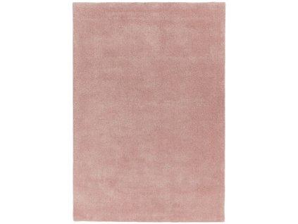 Moderní kusový jednobarevný shaggy koberec Baymax Rose pink