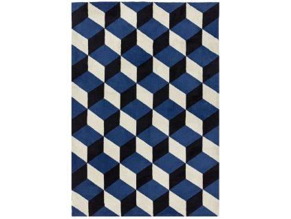 Moderní kusový koberec Fugali AR11 Blue Block