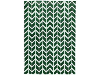 Moderní kusový koberec Fugali AR12 Chevron Green