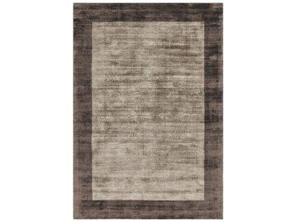 Moderní kusový koberec Ife Border Mocha Chocolate