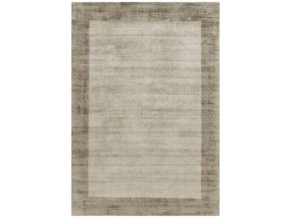 Moderní kusový koberec Ife Border Putty Smoke