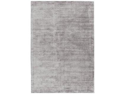 Moderní jednobarevný kusový koberec Ife Silver