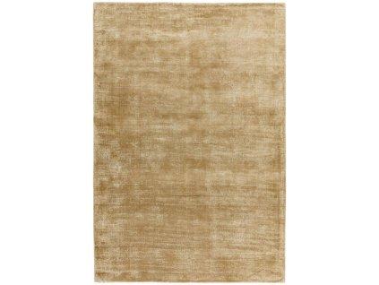 Moderní jednobarevný kusový koberec Ife Soft Gold