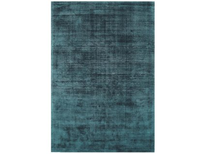 Moderní jednobarevný kusový koberec Ife Teal