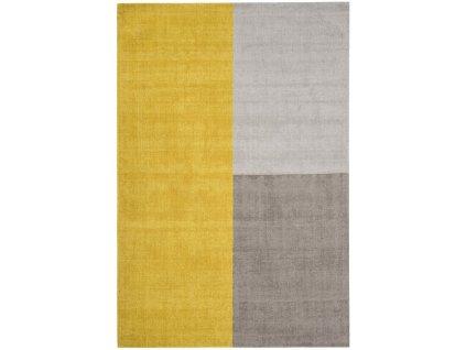 Moderní kusový koberec Ebony Mustard