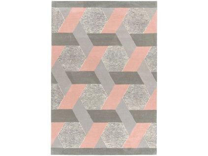 Moderní kusový koberec Moby Pink