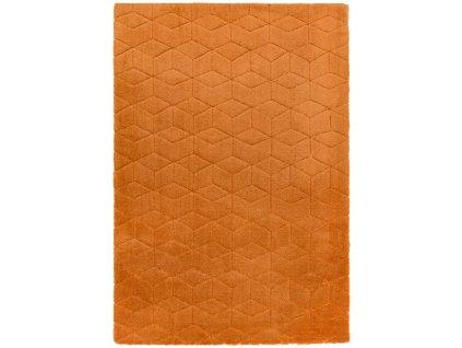 Moderní jednobarevný kusový koberec Devo Orange