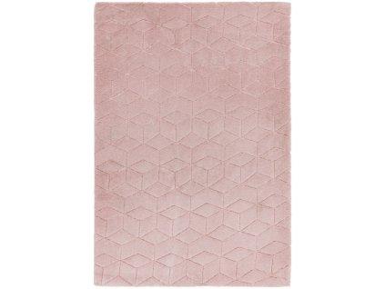 Moderní jednobarevný kusový koberec Devo Pink