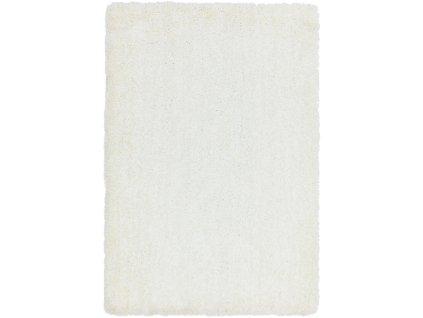 Moderní jednobarevný kusový koberec Eskimo White