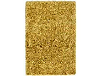 Moderní jednobarevný kusový koberec Eskimo Yellow