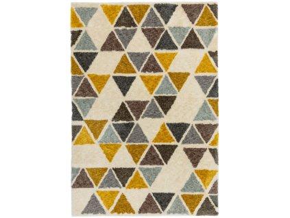 Moderní kusový koberec Cure GA04 Yellow Triangle