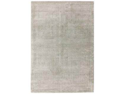 Moderní jednobarevný kusový koberec Pulp Silver