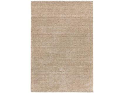 Moderní jednobarevný kusový koberec Chrome Beige