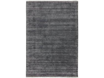 Moderní jednobarevný kusový koberec Chrome Charcoal