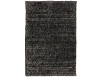 Moderní jednobarevný kusový koberec Chrome Slate