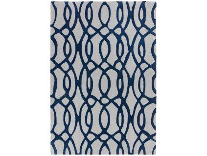Moderní kusový koberec MAX36 WIRE BLUE