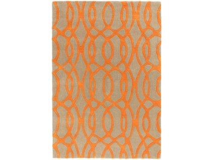 Moderní kusový koberec MAX37 WIRE ORANGE