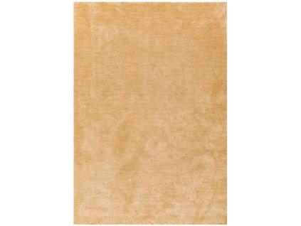Moderní jednobarevný kusový koberec Piemo Yellow