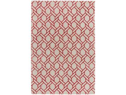 Luxusní moderní kusový koberec Rapun Fine Lines Silver Red