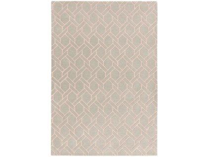 Luxusní moderní kusový koberec Rapun Fine Lines Silver Pink